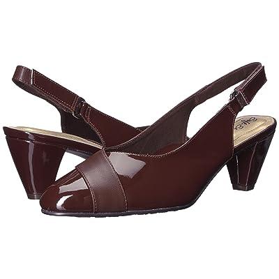 Soft Style Dagmar (Dark Brown Kid/Patent) Women