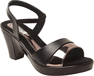 Feel it Leatherite Black Color Wedge for Women's & Girl's