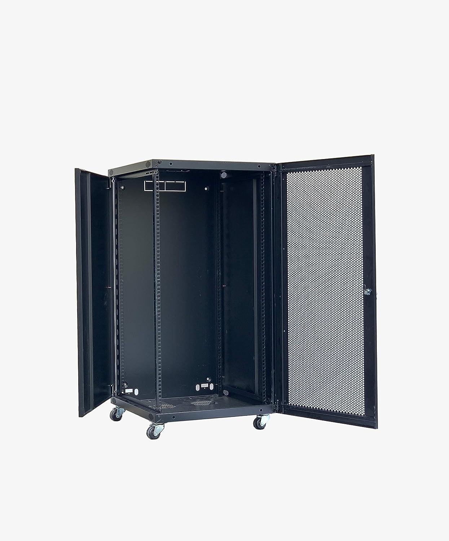 RAISING ELECTRONICS 18U Wall Mount Network Server Cabinet Rack Enclosure Door Lock 600mm Deep