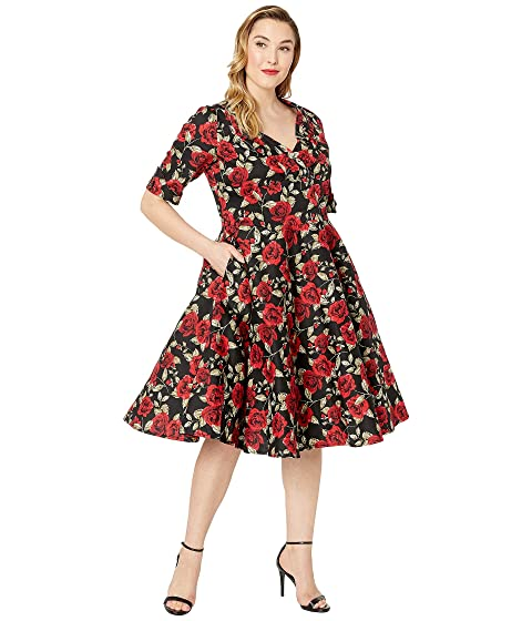 Unique Vintage Plus Size 1950s Delores Swing Dress with Sleeves at ... 19c8aeaae