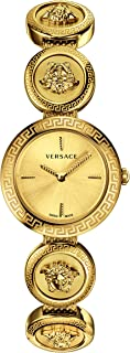 Versace VERF00718 Medusa Stud Icon Ladies Gold-Tone Stainless Steel Watch