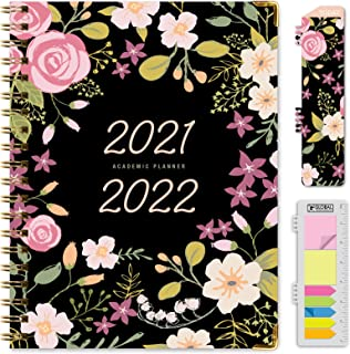 """HARDCOVER Academic Year 2021-2022 Planner: (June 2021 Through July 2022) 8.5""""x11"""" Daily Weekly Monthly Planner Yearly Agen... photo"""