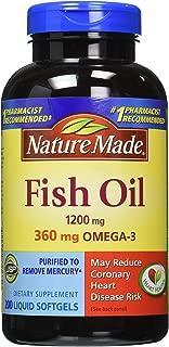 Nature Made fish oil 深海鱼油DHA& EPA,Omega-3 1200mg 软胶囊400粒(美国品牌 )