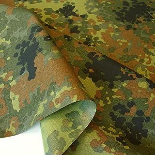 TOLKO Camouflage Stoff aus Cordura Nylon | Wasserdicht, Reißfest, Extrem robust | Segeltuch Meterware im Armee Flecktarn der Bundeswehr | mittelschwer 150cm breit Bundeswehr beschichtet