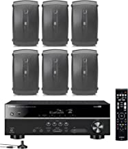 Yamaha 5.1-Channel Wireless Bluetooth 4K A/V Home Theater Receiver + Yamaha Natural Sound 2-Way 120 watts 2-Way Indoor/Out...