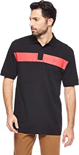 Fred Perry Men's Printed Chest Panel Pique Polo, Black, Small