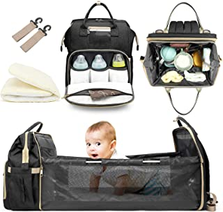 Innovation Diaper Bag&Bassinet, Portable Changing Station, Good Storage for Travel, Light and Practical, Insulated Bottle ...