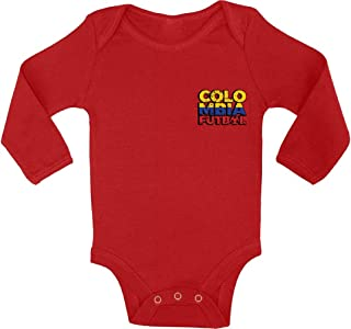 Awkward Styles Colombia Soccer Baby Bodysuit Long Sleeve Colombia Futbol One Piece