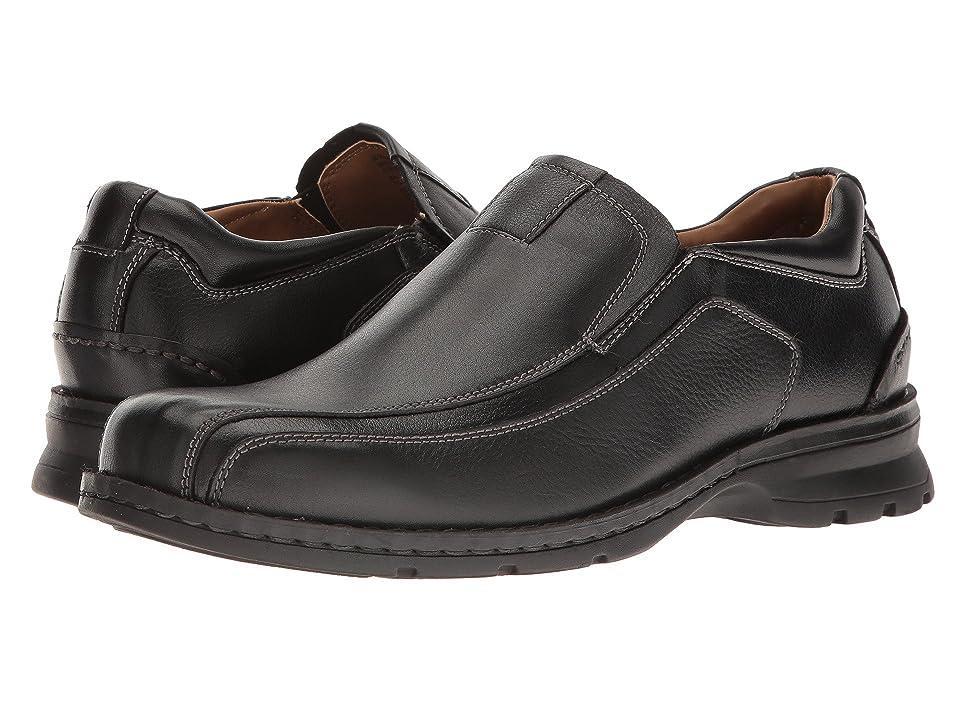 Dockers Agent Bike Toe Slip On (Black Tumbled Leather) Men