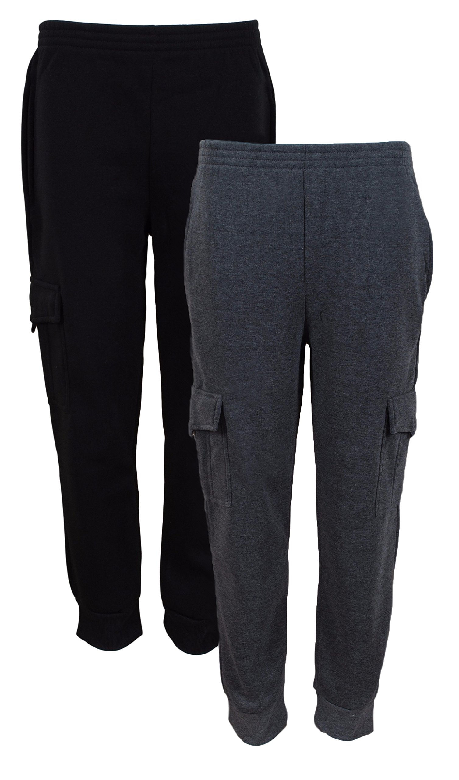 Quad Seven 2 件装男童抓绒工慢跑运动裤