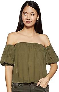 ONLY Women's Plain Regular Fit Top