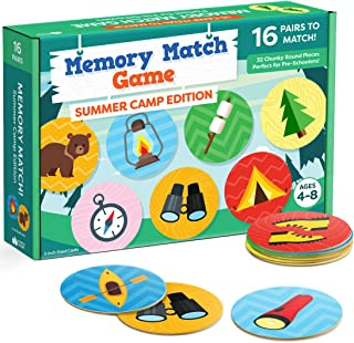 Sponsored Ad - Matching Memory Game for Kids - 32pc Summer Camp Concentration Memory Card Games for Children - Preschool Toddler Memory Games for Kids 3-5, 3, 4, 5 and Up - Boys and Girls