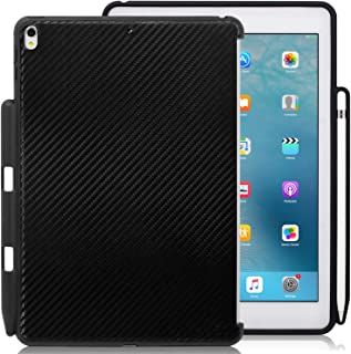 KHOMO - Apple iPad Pro 10.5 Inch & iPad Air 3 2019 Carbon Fiber Case With Pen Holder - Companion Cover - Perfect match for Apple Smart keyboard and Cover
