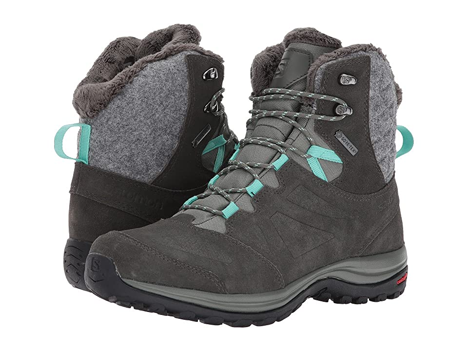 Salomon Ellipse Winter GTX(r) (Castor Gray/Beluga/Biscay Green) Women