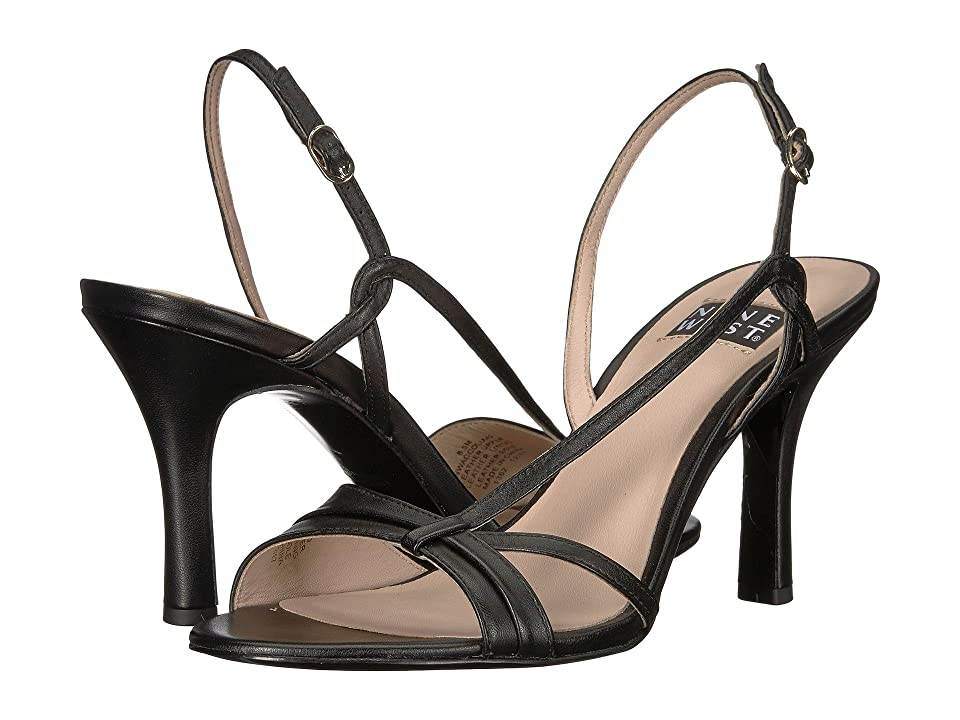 Nine West Accolia 40th Anniversary Heeled Sandal (Black Leather) Women