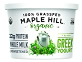 Maple Hill Creamery 100% Grass Fed Organic Greek Yogurt, Plain, 16 oz