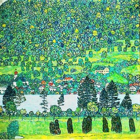 Farmhouse In Upper Austria Artwork By Gustav Klimt 24 By 24 Inch Canvas Wall Art Posters Prints