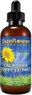 Sponsored Ad - Sunflower Botanicals California Poppy Extract, All Natural, 2 Ounces, Dropper-Top Glass Bottle