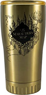 Warner Bros Silver Buffalo HP115795 Harry Potter Marauder's Map Double Wall Stainless Tumbler, 20-Ounces