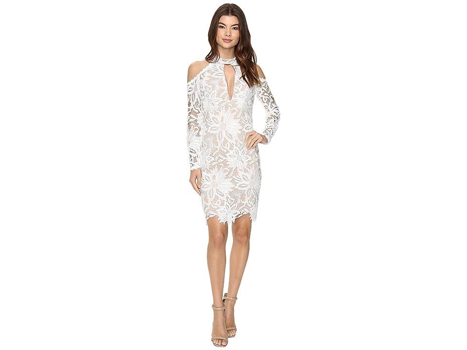 Nicole Miller Sunflower Lace Kendall Dress (White/Blush) Women