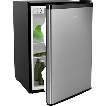 hOmeLabs Mini Fridge - 2.4 Cubic Feet Under Counter Refrigerator with Small Freezer - Drinks Healthy Snacks Beer Storage for Office, Dorm or Apartment with Removable Glass Shelves