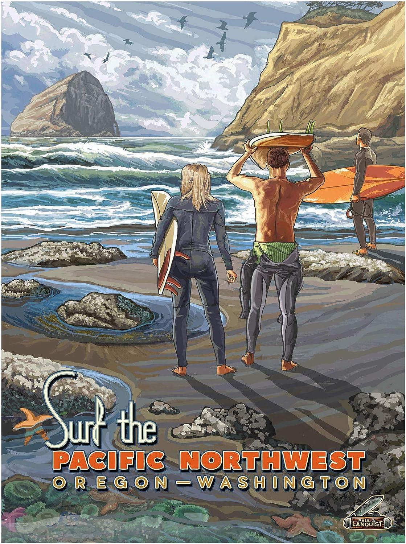 Surf Pacific Super sale period limited Northwest Oregon Washington Art Giclee Print Po Rapid rise