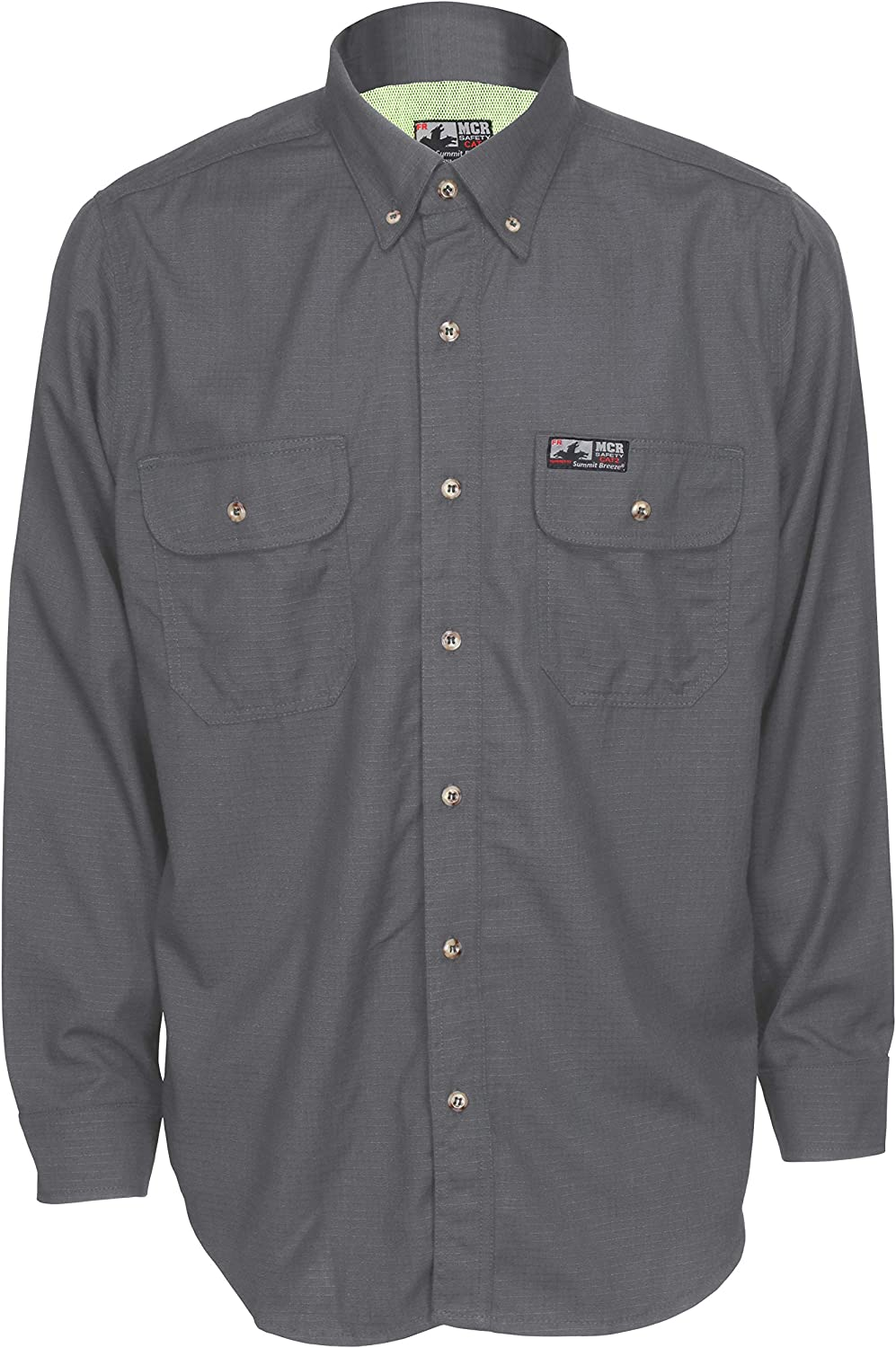 MCR powered by Summit Breeze Flame Resistant Vented Inherent Blend Shirt Grey 2 Extra Large Tall