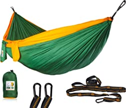 Ryno Tuff Camping Hammock - Double Hammock with Straps, Reinforced Not to Tear But Still Lightweight, Extra Pocket, Safe T...