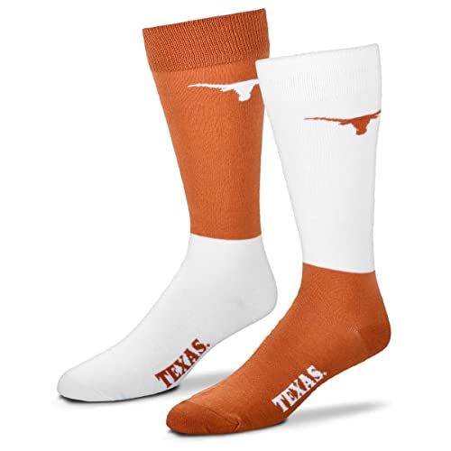 buy online bf627 ae947 For Bare Feet Men s NCAA 4-Square Mismatch Dress Socks-Size Large (10