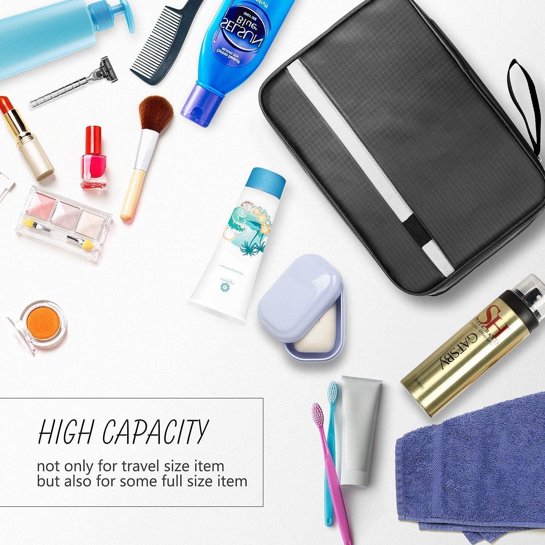 Neceser de Viaje Neceser Maquillaje para Hombre y Mujer Plegable Multifuncional para Viaje Bolsa de Aseo Impermeable para Colgar Negro