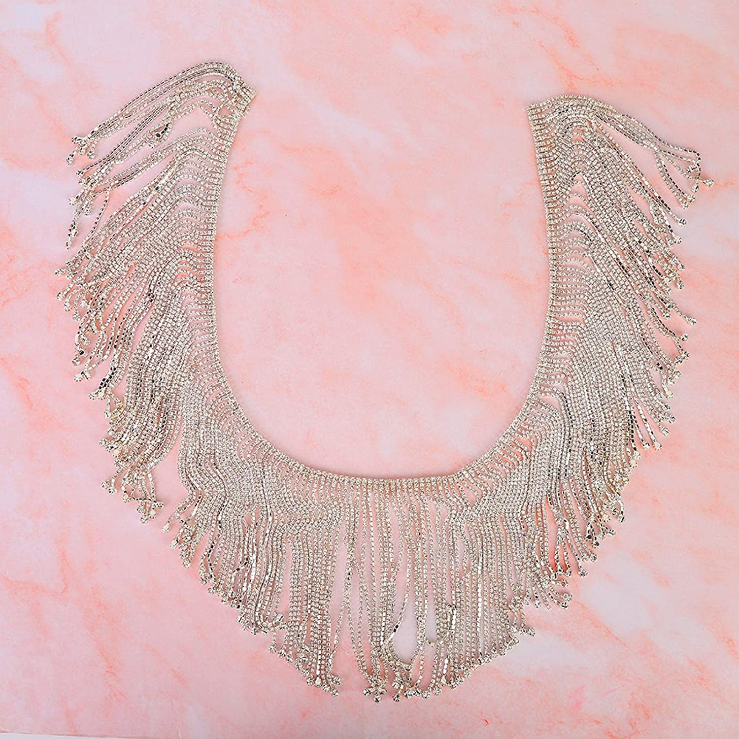 Crystal Rhinestones Directly managed store Tassel Chain Department store Glass Sewing Ch