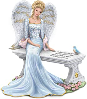 The Hamilton Collection Thomas Kinkade Remembrance Angel Figurine with Swarovski Crystal and Sentiment