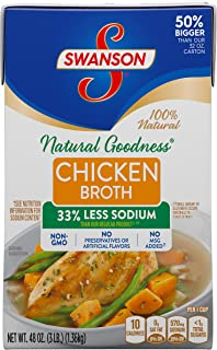 SwansonNatural Goodness Chicken Broth, 48 oz. Carton (Pack of 8)
