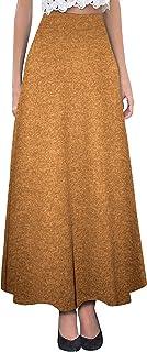 HyBrid & Company H & C Women Versatile Fold Over Waist Maxi Skirt/Convertible Dress
