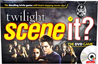 Scene It? Trivia DVD Board Game - TWILIGHT with DVD, Game Board, 4 Movers, 100 Trivia Cards, 20 Fate Cards, 4 Category Reference Cards, 1 Six-Sided Numbered Die, 1 Eight-Sided Category Die and Instruction Sheet Plus Bonus Activities