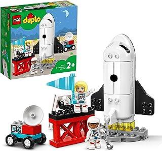 LEGO 10944 Duplo MaVille LaMissiondelaNavetteSpatiale, Jouet fusée pour Enfants 2 Ans et + avec Figurines d'astronautes