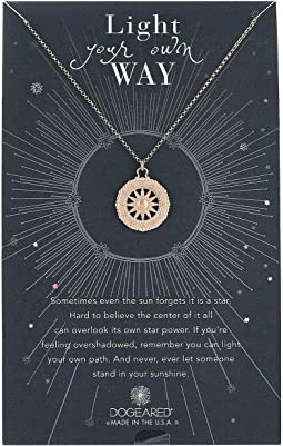 Dogeared - Light Your Own Way, Sun Salutations Coin Charm Necklace