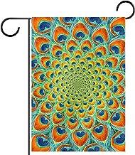 Tuinvlag, Decor Yard Banner Boerderij Outdoor Decoratie Pauw Veer Mandala Verticaal 28x40 Inch