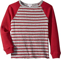 Yarn-Dyed Stripe Raglan Top (Little Kids/Big Kids)