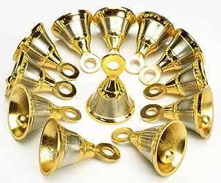 AzKrafts Lot 12 Indian Vintage Style Brass Two Tone Bells 1.6