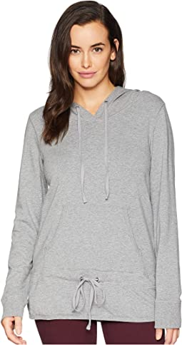 Cotton Modal Fleece Pullover Drawstring Hoodie