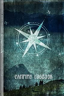 Camping Logbook: Camper Travel Journal Log Book - RV Caravan Trailer Journey / Traveling Diary 6x9 - Tent Campsite RVer Journaling Grunge Notebook