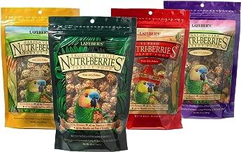 LAFEBER'S Nutri-Berries Pet Bird Food Bundle with Tropical Fruit, El Paso, Sunny Orchard, and Garden Veggie for Parrots, 10 oz Each (4 Items)
