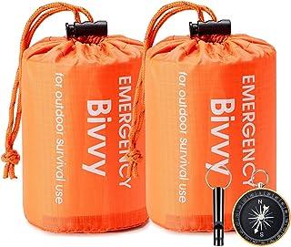 Esky Emergency Sleeping Bag, Waterproof Lightweight Thermal Bivy Sack, Survival Blanket Bags Portable Sack for Camping, Hi...