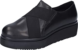 MANAS Loafer Flats Womens Leather Black