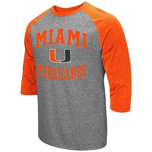 dda9231242d32f Colosseum Men s NCAA-Raglan-3 4 Sleeve-Heathered-Baseball T-