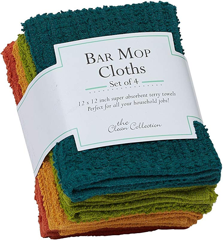 Design Imports DII Rustic Bar Mop Dishcloth Set Of 4
