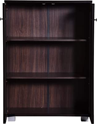 DeckUp Awana Engineered Wood Book Shelf and Display Unit (Walnut, Matte Finish)