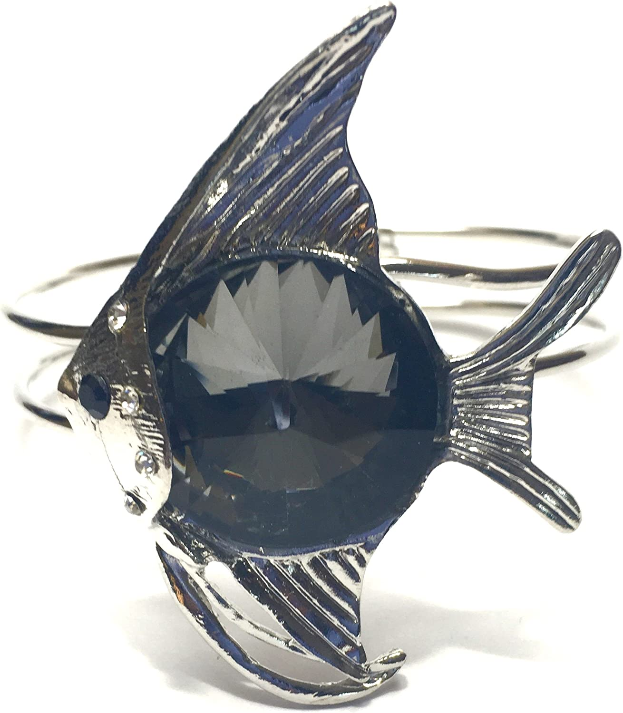 Tropical Fish Cuff Bracelet Prism stone