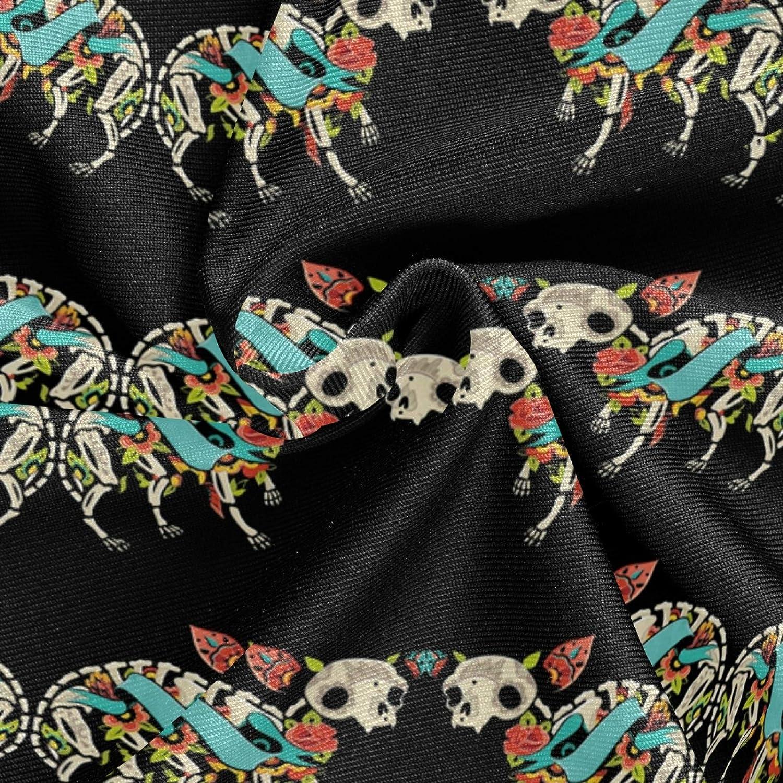 Women's Tank Top Hipster Chihuahua Dog Sugar Skull Bodysuits Scoop Neck Summer Racerback Camisole One Piece Leotard XS